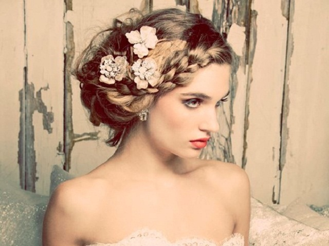 50 Latest Long And Short Hair Updos For Weddings: 2015