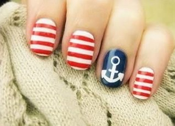 Simple Nail Art Designs for Short Nails (11)