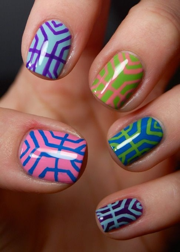 Simple Nail Art Designs for Short Nails (18)