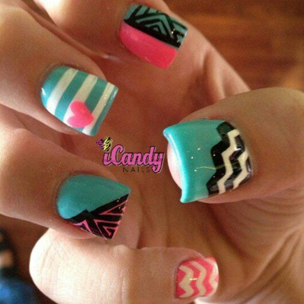 Ideas For Short Nails Easy Nail Art