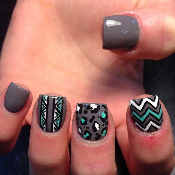 Simple Nail Art Designs for Short Nails (41)