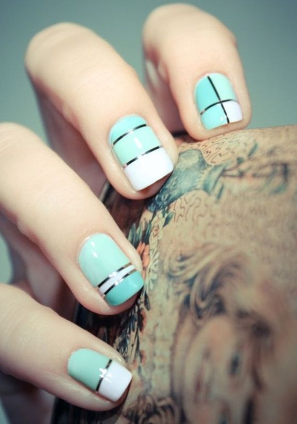 Simple Nail Art Designs for Short Nails (45)