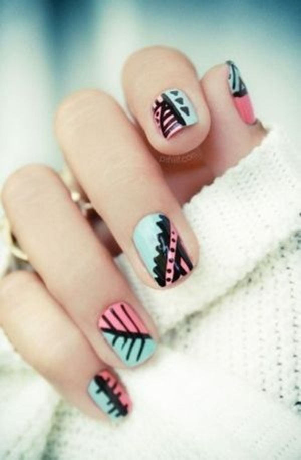 Simple Nail Art Designs for Short Nails (58)