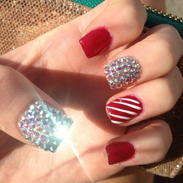 Christmas Design For Short Nails : Simple nail art designs for short nails
