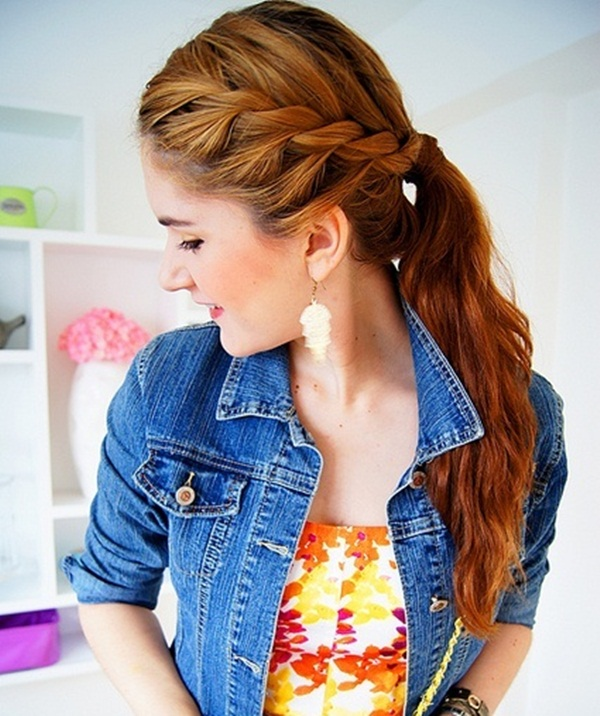 Attractive Side Ponytail Hairstyles for Girls (19)