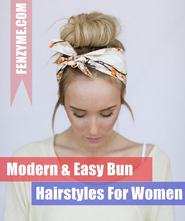 Easy Bun Hairstyles for Women (1)