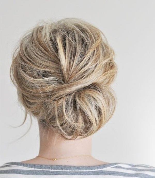 Easy Bun Hairstyles for Women (13)