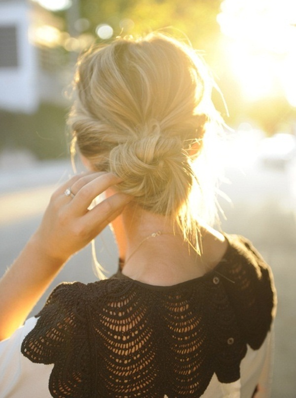 Easy Bun Hairstyles for Women (14)