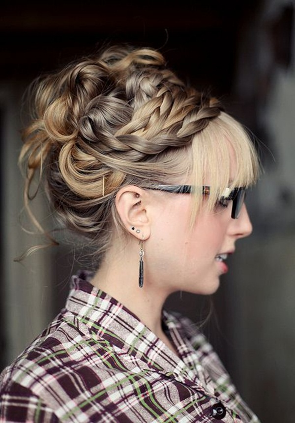 Easy Bun Hairstyles for Women (17)