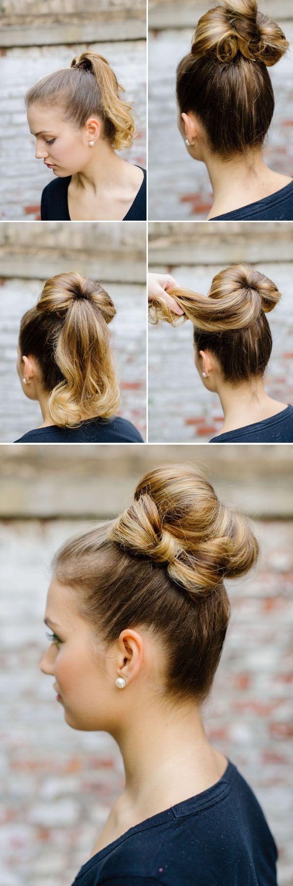 Easy Bun Hairstyles for Women (22)