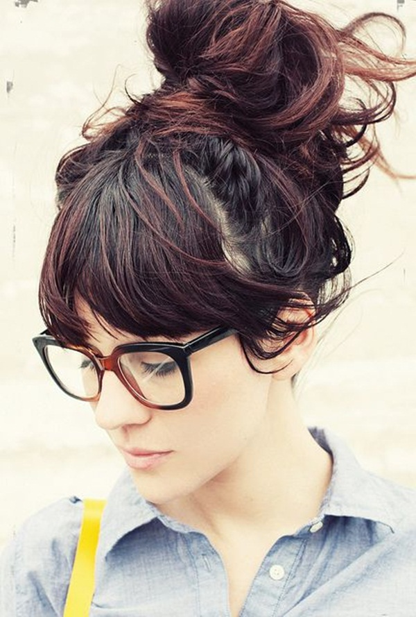 Easy Bun Hairstyles for Women (29)