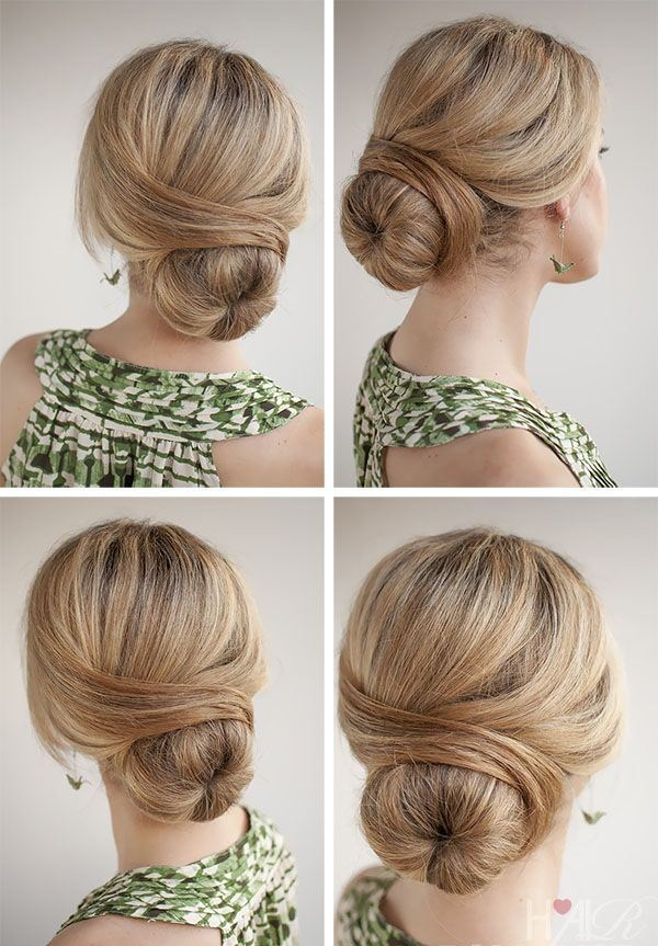 Easy Bun Hairstyles for Women (31)
