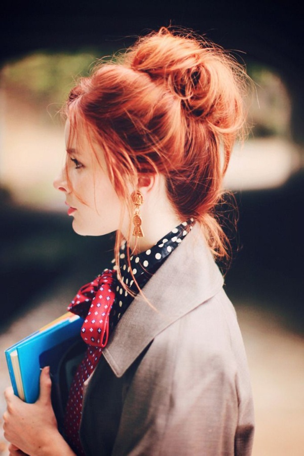 Easy Bun Hairstyles for Women (33)