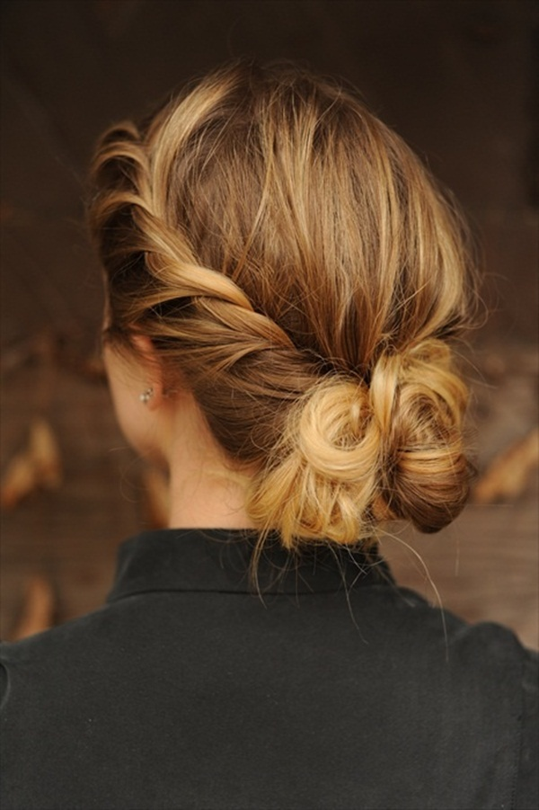 Easy Bun Hairstyles for Women (4)