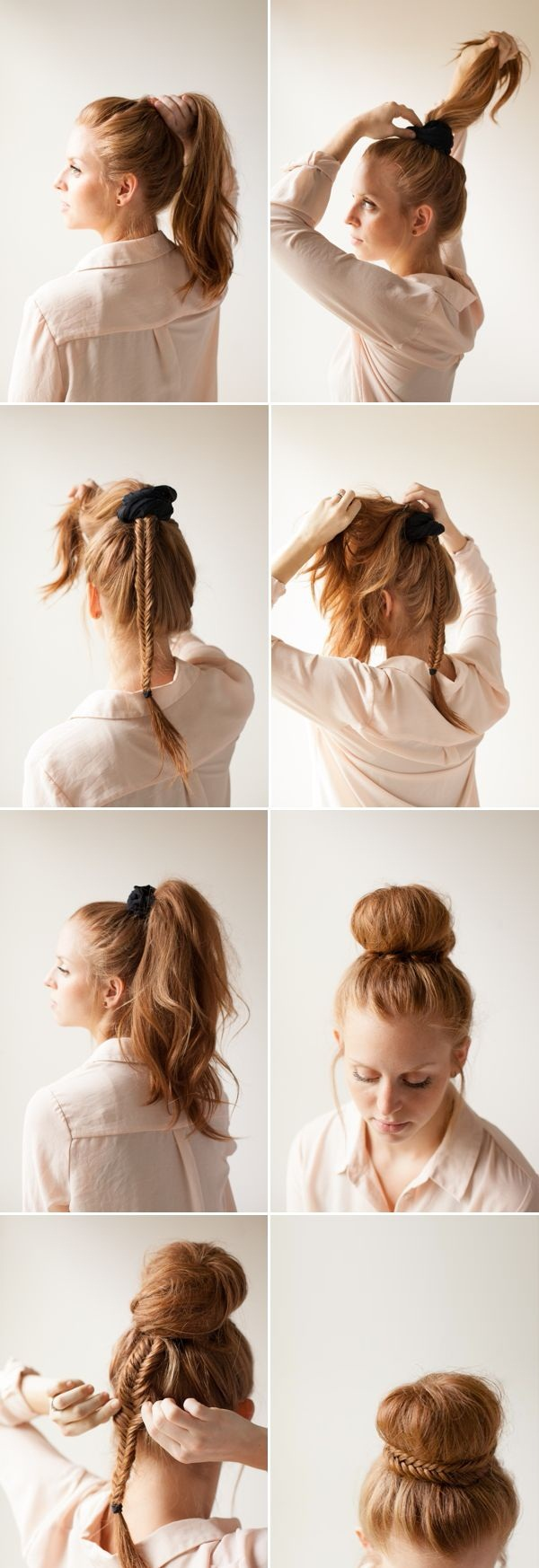 Easy Bun Hairstyles for Women (5)