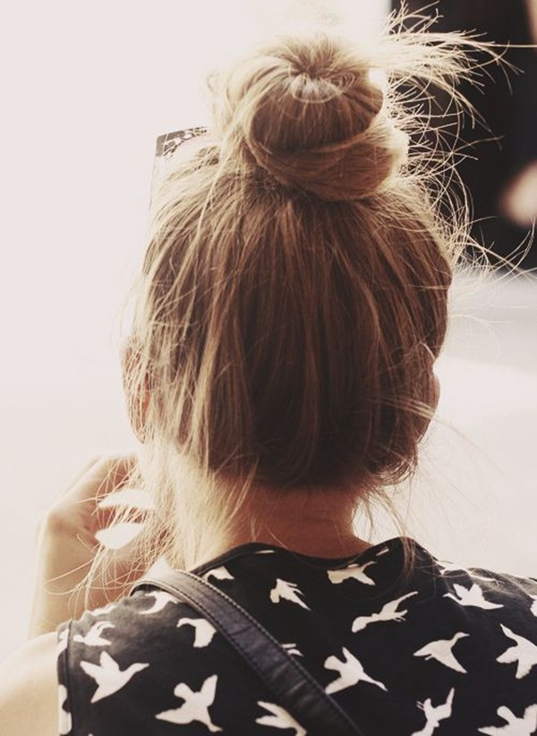 Easy Bun Hairstyles for Women (6)