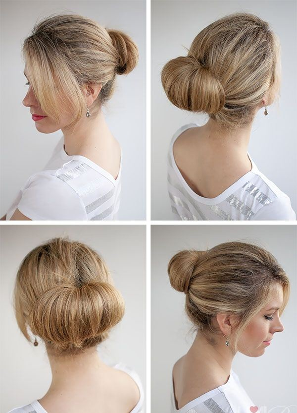 Easy Bun Hairstyles for Women (8)