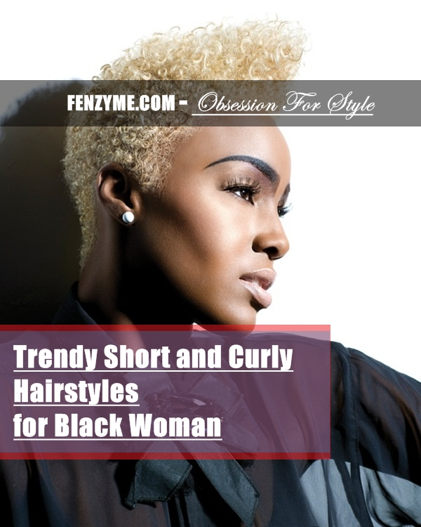 Short Curly Hairstyles for Black Woman (41)