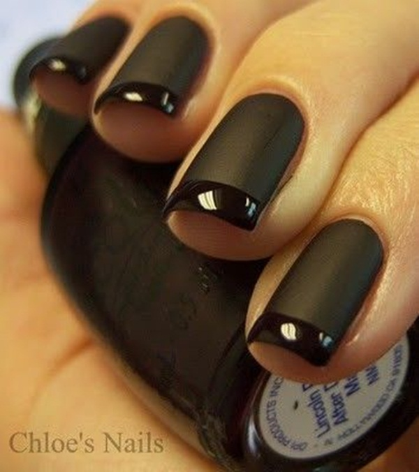 Simple Matte Nail Art Designs for Beginners (11)