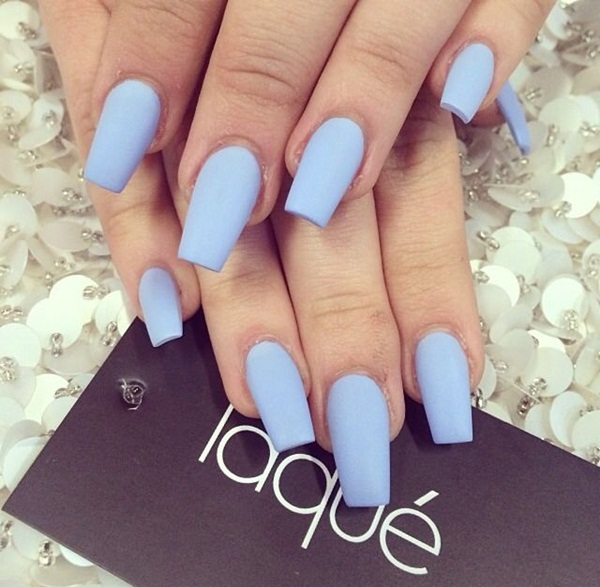Simple Matte Nail Art Designs for Beginners (16)