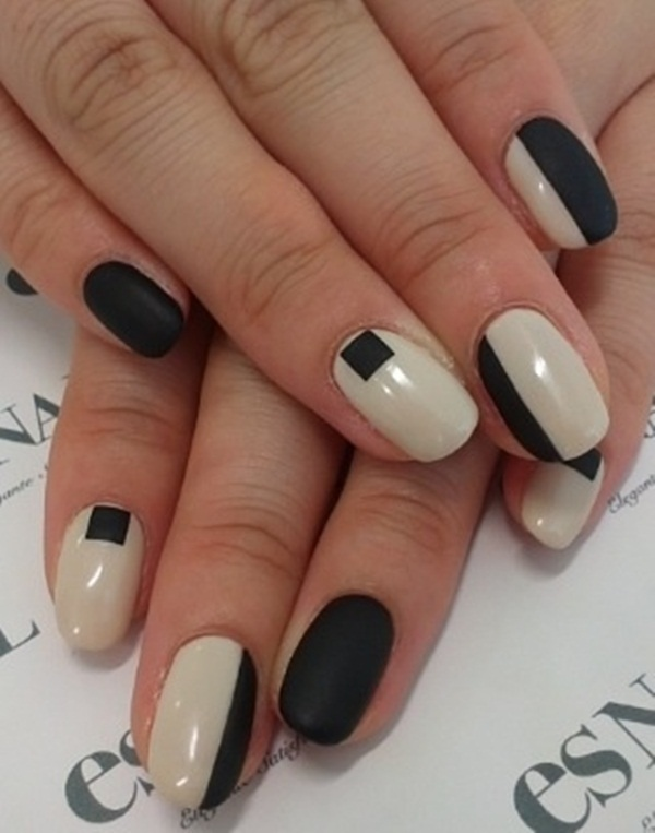 Simple Matte Nail Art Designs for Beginners (18)