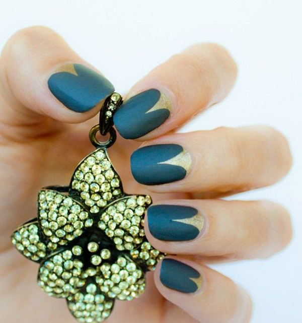 Simple Matte Nail Art Designs for Beginners (21)