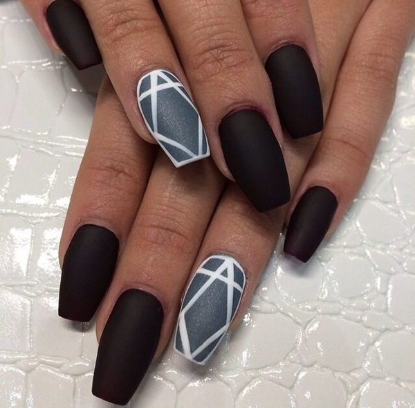 Simple Matte Nail Art Designs for Beginners (31)