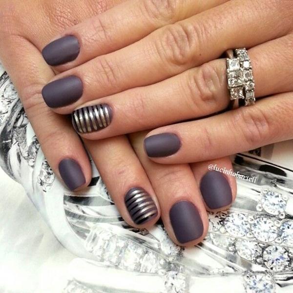 Simple Matte Nail Art Designs for Beginners (32)