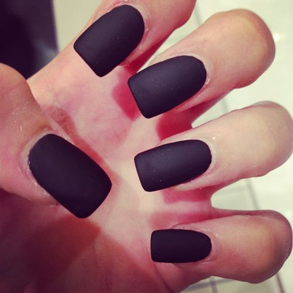 Simple Matte Nail Art Designs for Beginners (41)