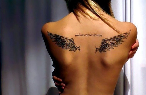 Angel Tattoo Designs for Girls and Boys (26)
