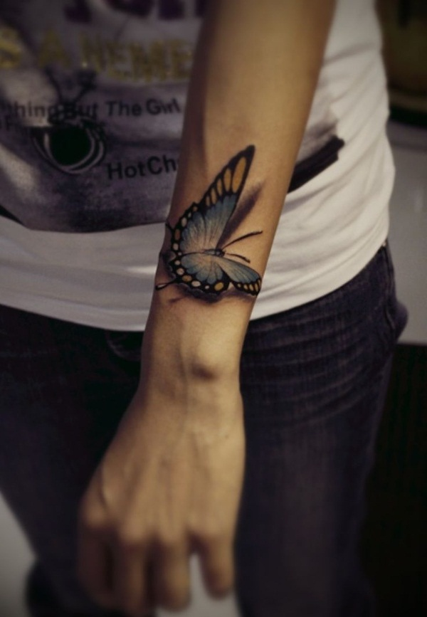 Butterfly Tattoo Designs for Girls (13)