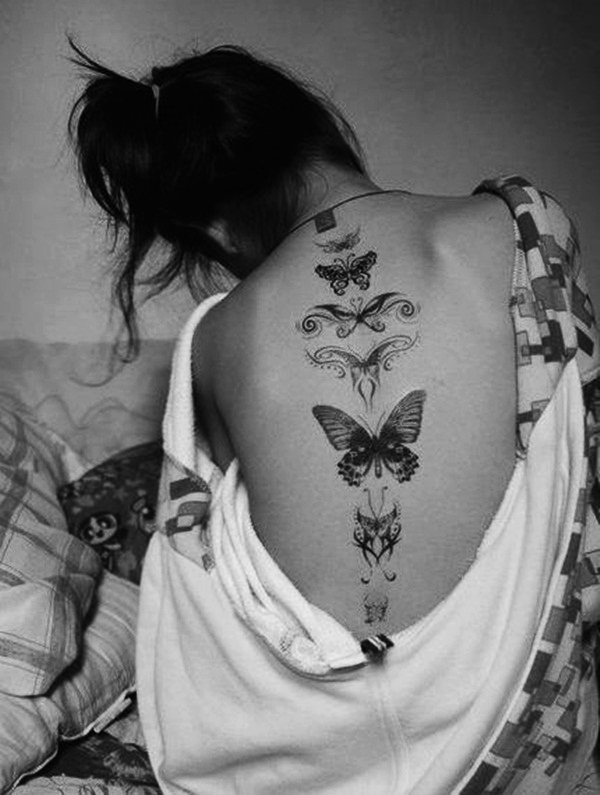Butterfly Tattoo Designs for Girls (14)