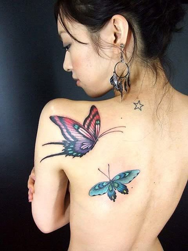 Butterfly Tattoo Designs for Girls (16)
