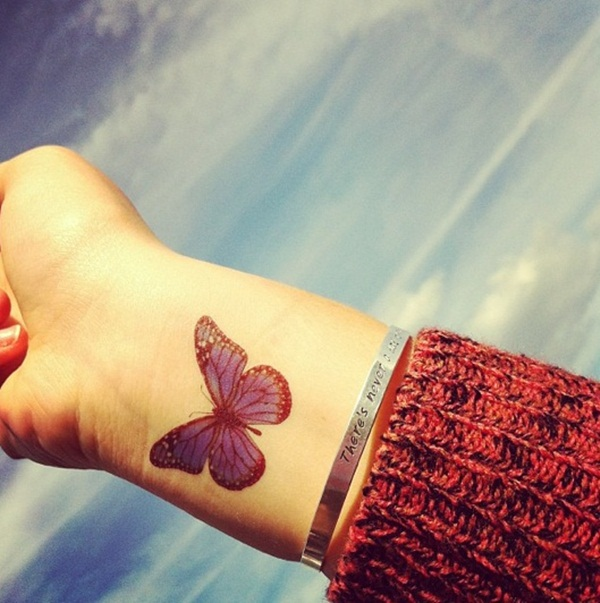 Butterfly Tattoo Designs for Girls (22)