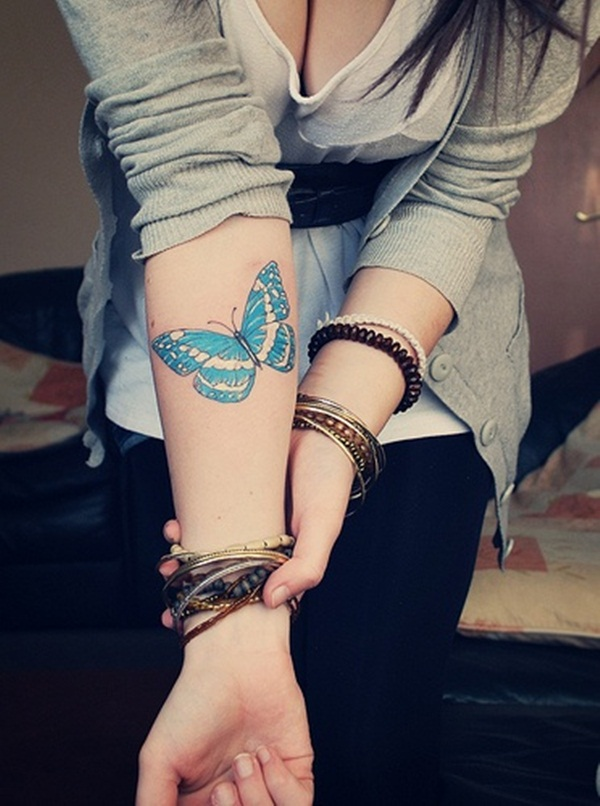 Butterfly Tattoo Designs for Girls (26)
