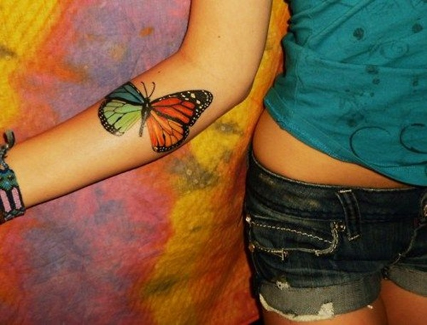 Butterfly Tattoo Designs for Girls (34)