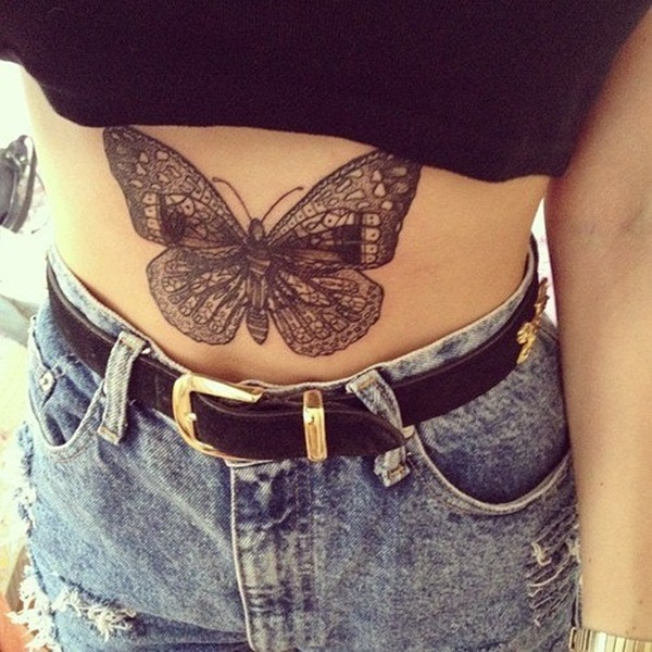 Butterfly Tattoo Designs for Girls (41)