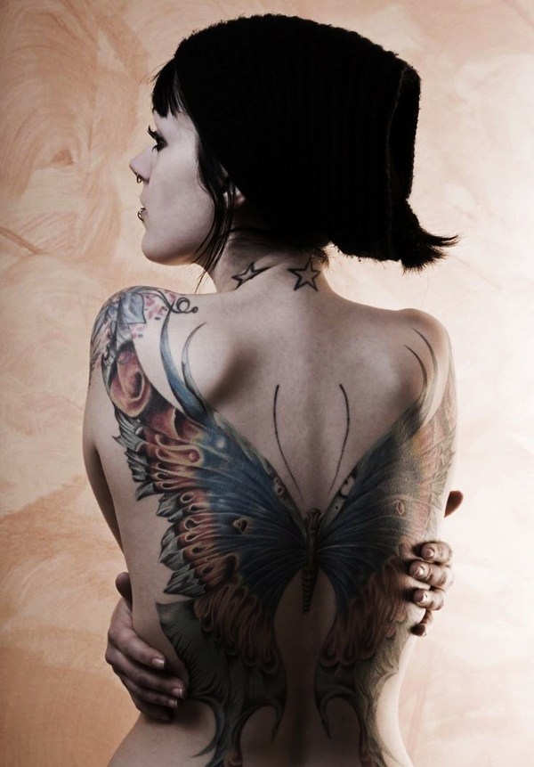 Butterfly Tattoo Designs for Girls (5)