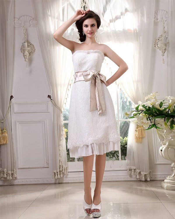 Latest 45 sexy short wedding dresses for style lovers for Dresses for a civil wedding ceremony