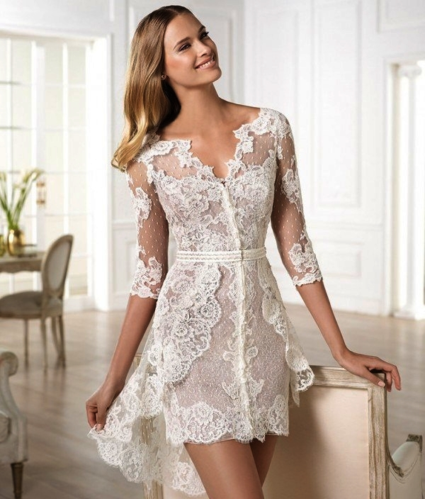 short and sexy wedding dresses 107