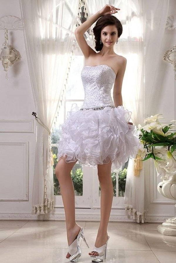 Sexy Short Wedding Dresses (17)