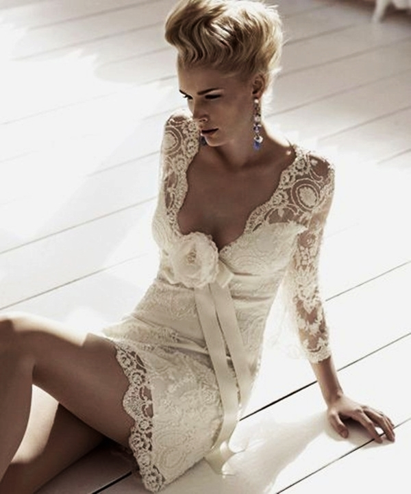 Sexy Short Wedding Dresses (19)