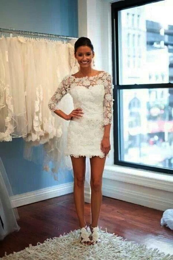 Sexy Short Wedding Dresses (27)