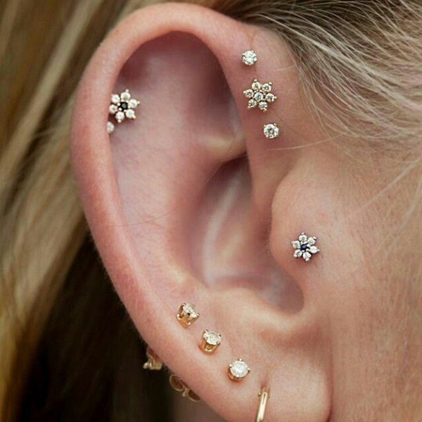 Sexy Tragus Piercing Ideas13