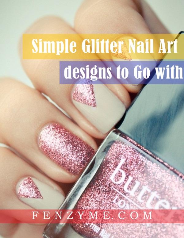 Simple Glitter Nail Art designs1.1