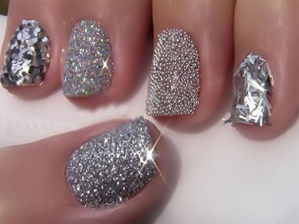 Simple Glitter Nail Art designs1