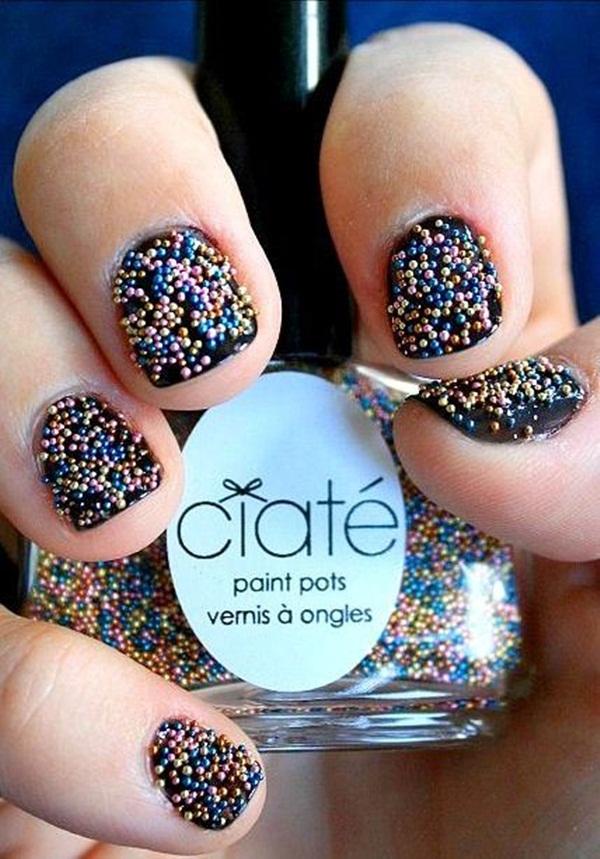Simple Glitter Nail Art designs2