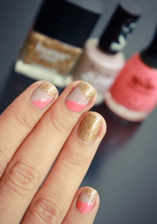 Simple Glitter Nail Art designs5