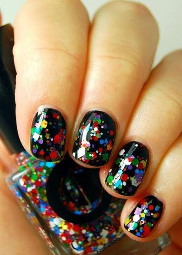 Simple Glitter Nail Art designs6.1