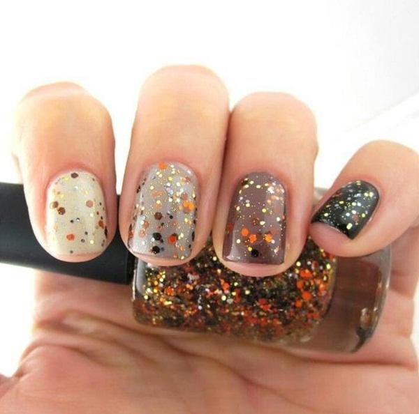 Simple Glitter Nail Art designs6